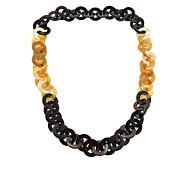 "Natural Beauties Buffalo Horn Rolo-Link 36"" Necklace"