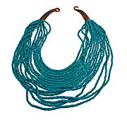 Natural Beauties Turquoise Coconut Shell and Buffalo Horn Necklace