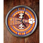 NCAA Chrome Clock - Clemson