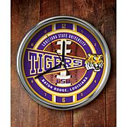 NCAA Chrome Clock - Louisiana State