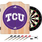 NCAA Dart Cab w/ Darts & Board - Texas Christian Univ