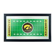 NCAA Framed Football Field Mirror - University of Iowa