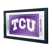 NCAA Logo Mascot Framed Mirror - Texas Christian