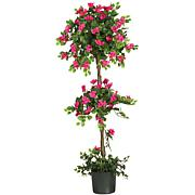 Nearly Natural 5' Mini Bougainvillea Topiary Silk Tree