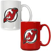 New Jersey Devils 2pc Coffee Mug Set