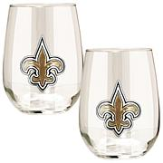 Officially LicensedNFL 2-piece Wine Glass Set