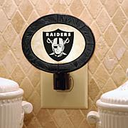 NFL Art Glass Nightlight - Oakland Raiders