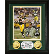 NFL Gold Coin Photo - Aaron Rodgers Super Bowl MVP
