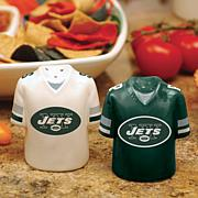 NFL Jersey Ceramic Salt and Pepper Shakers - Jets