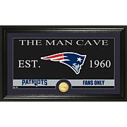 NFL Man Cave Bronze Coin Panoramic Photo Mint-Patriots