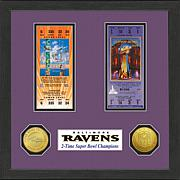 NFL Ravens Super Bowl Champs Replica Tickets and Coins