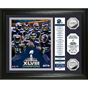 NFL SB XLVIII Champions Banner Coin Photo Mint-Seahawks