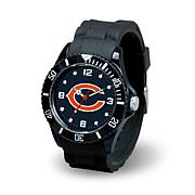 "NFL Team Logo ""Spirit"" Black Rubber Strap Sports Watch"