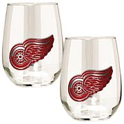 NHL 2-piece Wine Glass Set - Detroit Red Wings