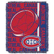 NHL Double Play Woven Throw - Montreal Canadiens