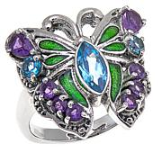 Nicky Butler Amethyst and Topaz Butterfly Ring