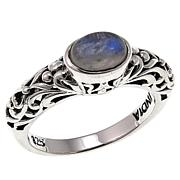 Nicky Butler Moonstone East/West Oval Sterling Silver Band Ring