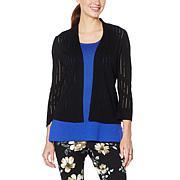 Nina Leonard 3/4 Sleeve Raindrop Crochet Bolero