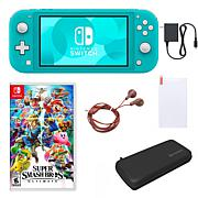 Nintendo Switch Lite with Super Smash Bros and Accessories