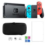 Nintendo Switch Neon Console with Screen Protector and Carry Case