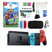 Nintendo Switch w/Mario & Sonic Olympics Game & Accessories Kit