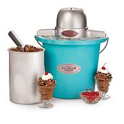 Nostalgia Electrics™ 4qt Electric Ice Cream Maker-Blue
