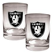 NFL 2pc Rocks Glass Set