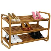 Oceanstar 3-Tier Stackable Bamboo Shoe Rack