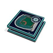 Officially Licensed MLB 3D StadiumViews Coaster Set - Seattle Mariners