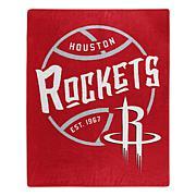 Officially Licensed NBA Black Top Raschel Throw Blanket