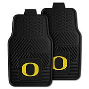 Officially Licensed NCAA 2pc Vinyl Car Mat Set