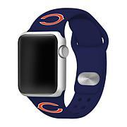 Officially Licensed NFL42mm/44mm Apple Watch Med. Sport Band - Blue