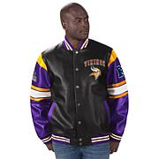 Officially Licensed NFL Faux Leather Varsity Jacket by Glll