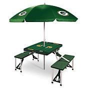 Officially Licensed NFL Green Portable Folding Picnic Table