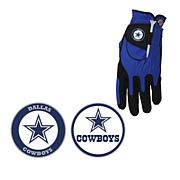 Officially Licensed NFL Zero Friction Golf Glove and Ball Marker