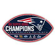 "Officially Licensed NFL Super Bowl LIII Champs 12"" Magnet -  Patriots"