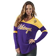 Officially Licensed NFL Women's Long-Sleeve Red Zone Tee