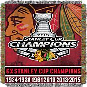 Officially Licensed NHL Commemorative Woven Tapestry Throw
