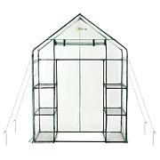 Ogrow Deluxe WALK-IN 3-Tier 6 Shelf Portable Greenhouse