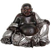 "Oriental Furniture 7"" Sitting Lucky Buddha Statue"