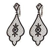 """Ottoman Silver Jewelry 2.54ctw Black Spinel """"Sultan"""" Drop Earrings"""
