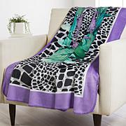 Patricia Altschul Luxe Printed Oversized Throw
