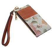 Patricia Nash Almeria Crackled Rose Garden Leather Card Wristlet