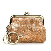 Patricia Nash Borse Metallic Tooled Leather Coin Purse