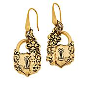 Patricia Nash Lock-and-Key Drop Earrings
