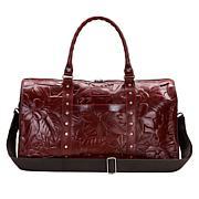 Patricia Nash Mariani Leather Weekender