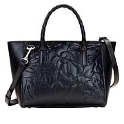 Patricia Nash Mozia Floral Deboss Leather Tote