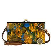 Patricia Nash Vallina Leather Frame Crossbody Bag