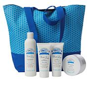 Perlier Double Latte 4-piece Kit with Woven Tote Bag