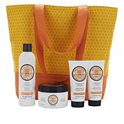 Perlier Shea Butter 4-piece Kit with Woven Tote Bag